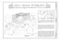 Hill Road Pueblito, Carrizo Canyon, Dulce, Rio Arriba County, NM HABS NM,20-DUL.V,6- (sheet 1 of 3).png