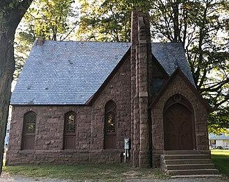 Hillside Cemetery (Clarendon, New York) - Image: Hillside Cemetery Chapel East Side