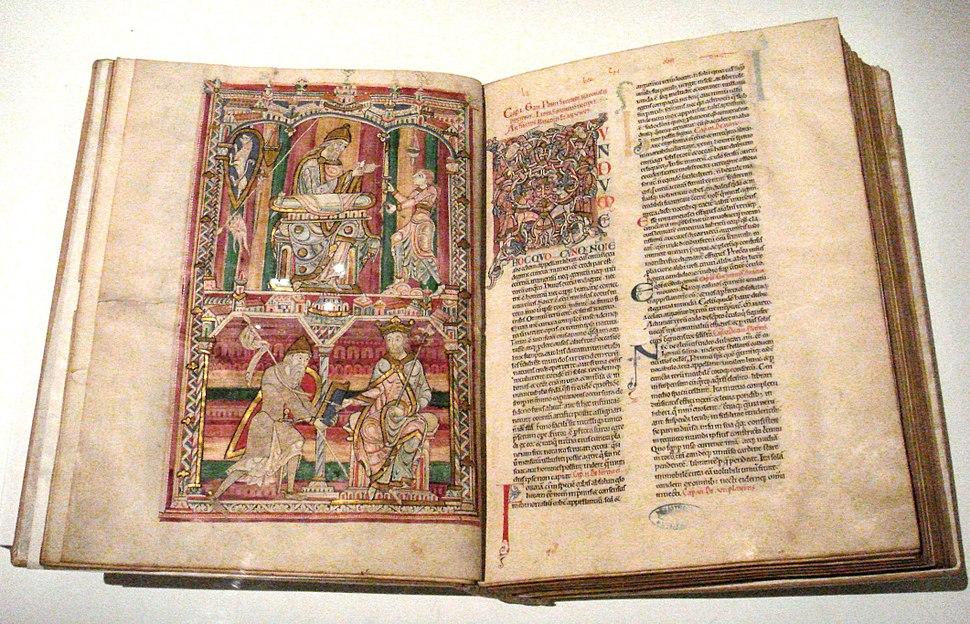 Histoire Naturelle Pline l Ancien mid 12th century Abbaye de Saint Vincent Le Mans France