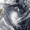 Satellite image of Cyclone Hollanda near peak intensity