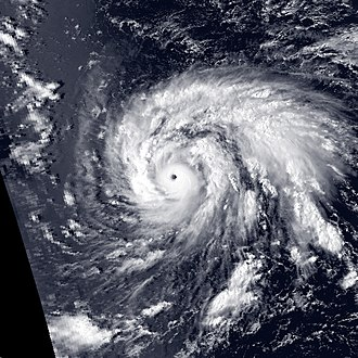 1987 Pacific typhoon season - Image: Holly 1987 09 08 0420Z