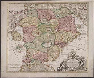 Johann Homann - Image: Homann Schlarraffenlandes 1694 Cornell CUL PJM 1015 01