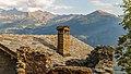 Homene Dessus, Combellin, Valle d'Aosta. Detail van oud huis 09.jpg