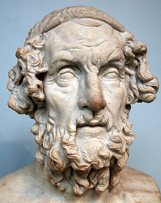Homer - Roman bust of Homer from the second century AD, portrayed with traditional iconography, based on a Greek original dating to the Hellenistic Period