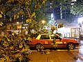 Hong Kong Taxi Damaged by Fallen Trees During Typhoon Mangkhut 2018.jpg
