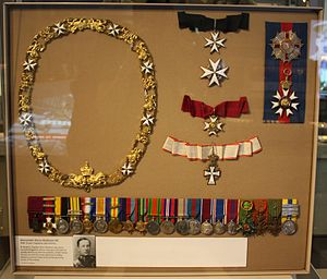 Alexander Hore-Ruthven, 1st Earl of Gowrie - Hore-Ruthven's orders, medals and decorations on display in the Ashcroft Gallery at the Imperial War Museum