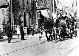 Toronto Fire Services - Toronto horse drawn pumper
