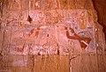 Horus and Thot purifying Hatshepsut (chiseled away by her stepson Thutmose III)... (36101001330).jpg