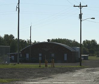 Houghton County Memorial Airport - Former 1934 building in Laurium.