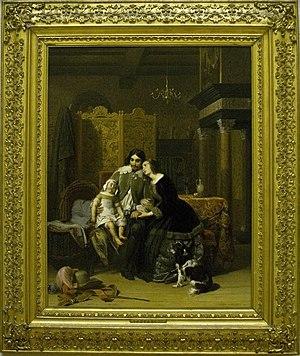 Jacobus Josephus Eeckhout - Household troubles, 1844, now in the Teyler's Museum
