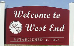 West End (Houston) - West End neighborhood sign