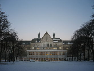 Norwegian University of Science and Technology - South view of Hovedbygningen at Campus Gløshaugen, Trondheim