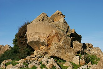 Temple of Olympian Zeus, Agrigento - Remains of the Temple of Olympian Zeus.