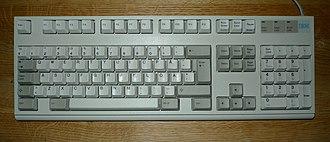 Model M keyboard - Image: IBM model M2 for Sweden and Finland