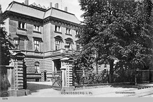 I Corps (German Empire) - Headquarters, about 1908