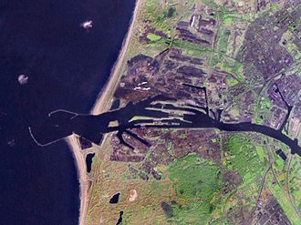 IJmuiden - Satellite photo of IJmuiden and Velsen area