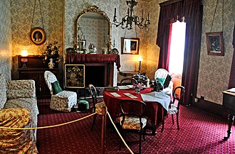 Victorian decorative arts - The Commandant drawing room, Port Arthur, Tasmania.