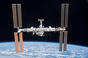 The International Space Station in earth orbit