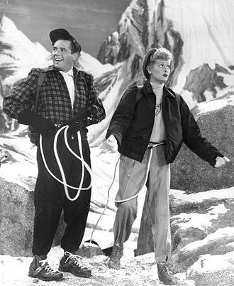 I Love Lucy - Lucy and Ricky climb in the Alps during their 1956 European vacation.