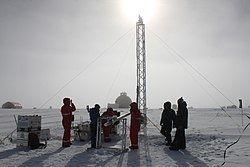 Ice core researchers from AWI drilling at the EastGRIP ice core site, Greenland 1.jpg