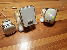 A photo showing the different versions of the iDog toy