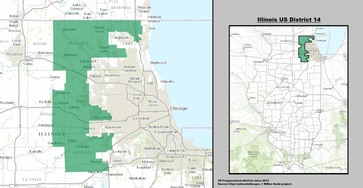 Illinoiss Th Congressional District Wikipedia - Illinois 13th congressional district