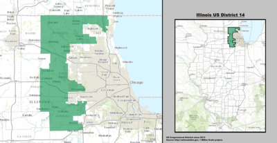 Illinoiss 14th Congressional District Wikipedia - Il-on-us-map
