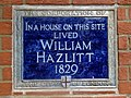 In a house on this site lived William Hazlitt 1829.jpg