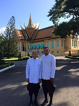 In royal palace Phnom Penh front of king house.jpg