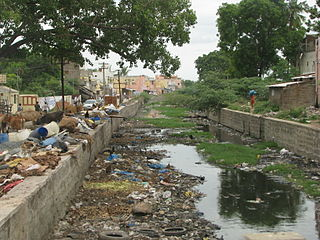 Water pollution in India Water pollution in India is mainly due to untreated wastewater discharge into rivers