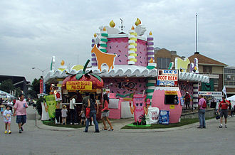 Indiana State Fair - A building designed as a birthday cake in honor of the 150th anniversary of the fair in 2006