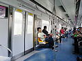 Inside a Line 5 train, Beijing Subway.jpg