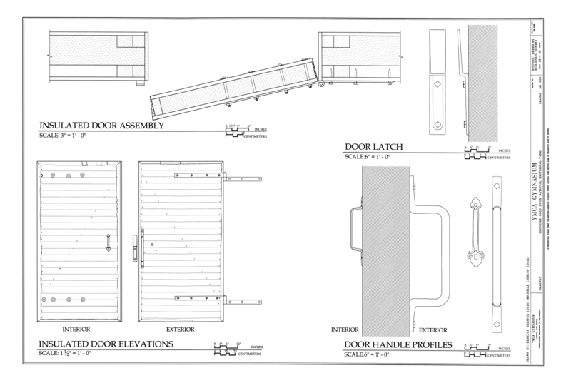 Elevation Plan Ymca : File insulated door assembly elevations