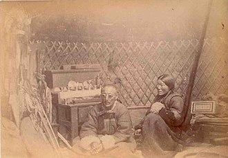 1883 in Russia - Intérieur de la yourte d'un chaman