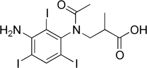 Iocetamic acid - Image: Iocetamic acid