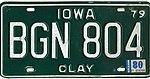 Iowa 1980 license plate - BGN 804.jpg