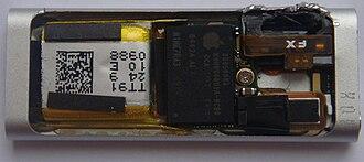 IPod Shuffle - The inside of a third-generation iPod Shuffle.
