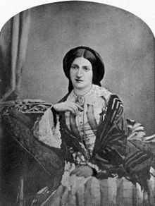 Photographic portrait of Mrs Beeton, c.1860-5.