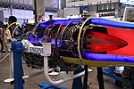 Ishikawajima-Harima F3-IHI-30B turbofan engine(cutaway model) at Niconico chokaigi April 28, 2018 06.jpg