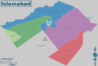 The five zones of Islamabad