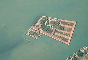 Lazzaretto Vecchio - Aerial view of Lazzaretto Vecchio