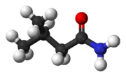 Ball-and-stick model of isovaleramide