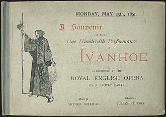 Ivanhoe (opera) - Souvenir of 100th performance