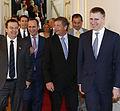 Ivica Dacic, Sebastian Kurz, Ditmir Bushati, Karl Erjavec, Igor Luksic, Vienna 2014.jpg