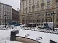 József nádor tér, Wekerle Sándor utca felé nézve, hóesés, 2019 Lipótváros.jpg
