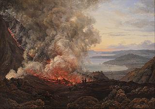 Eruption of the Volcano Vesuvius