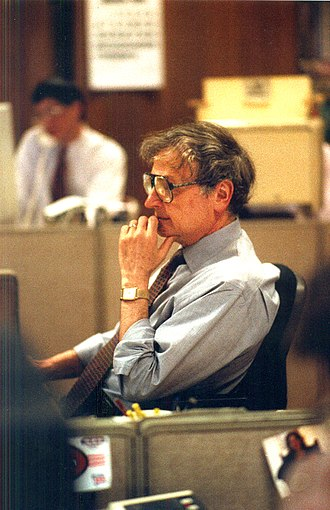 Page 1 Editor Jack Breibart in the San Francisco Chronicle newsroom, 1994. JACK BREIBART, 1994.jpg