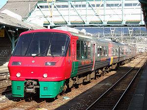 Huis Ten Bosch (train) - 783 series train on a Huis Ten Bosch service