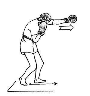 Shadowboxing Sports training exercise
