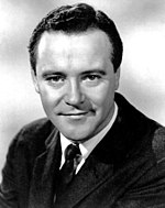 Black and white photo of Jack Lemmon in 1968.